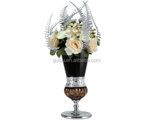 2015 Luxury Cheap Big crystal Flower Vase For Home Decoration