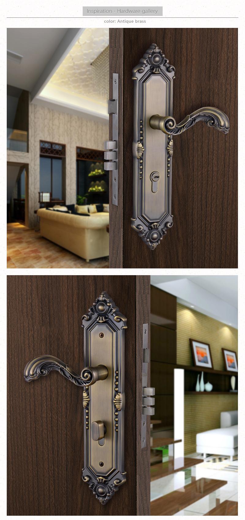6085 Lock Body Antique Brass Front Apartment Room Door Lock Cover Plate Buy Door Lock Cover