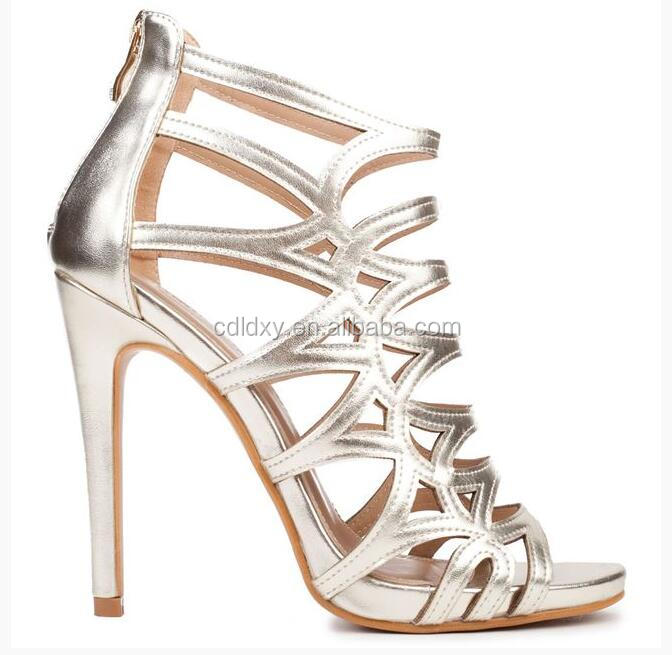 2017 newest style stiletto women beautiful high heel sandals shoes