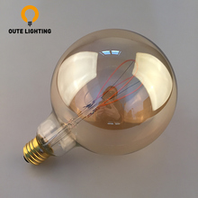 Indoor Lighting Curved Filament 4W E27 230V LED Light Dimmable Bulb