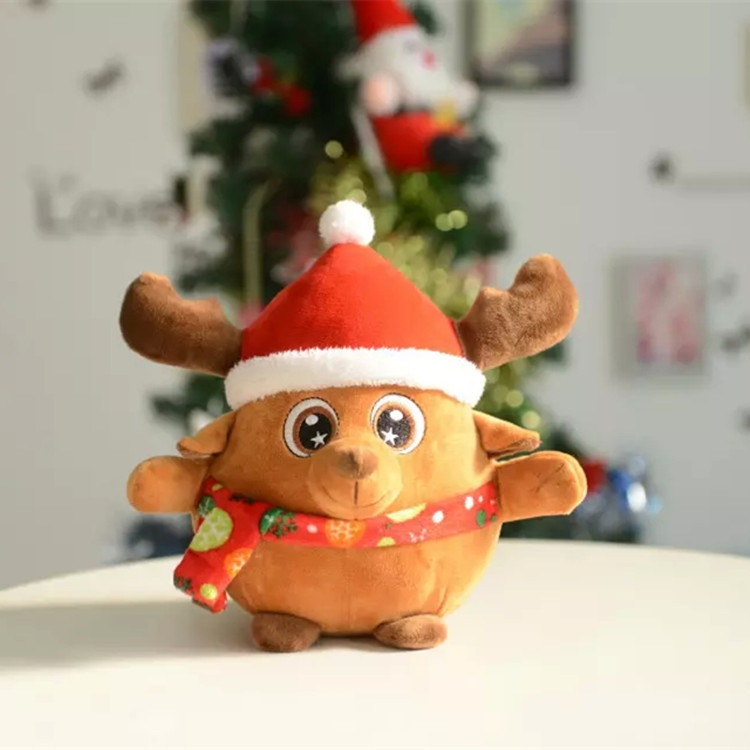 high end Santa Claus & milu deer with light and music online shopping stuffed toys