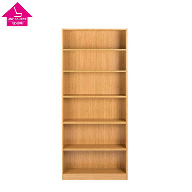 Modern design Northern Europe style wood 5 Shelf tall Wide Bookcase