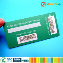 Supermarket Loyalty Program PVC membership Card with Barcode printing