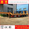 Heavy duty 3 axle low bed trailer lowbed semi trailer , 60 ton to 100 tons low loader truck trailer for sale