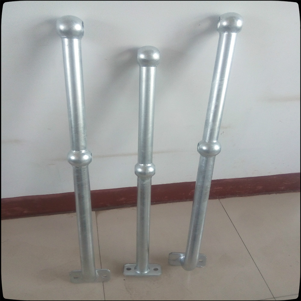 Painting carbon steel ball ointing handrail fence railing
