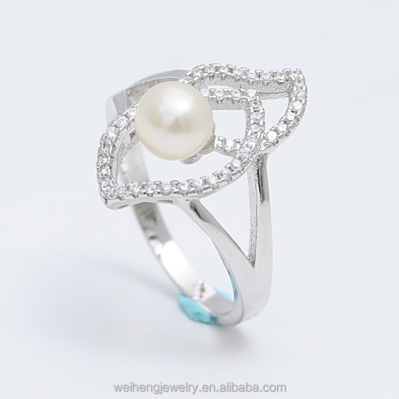 china pearls rings mount factory offer 925 sterling silver 6mm pearl ring designs for men
