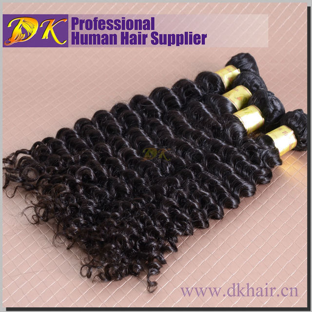 100% High Quality Curly Virgin Hair 24Inch Natural Color Human Peruvian hair Deep Wave