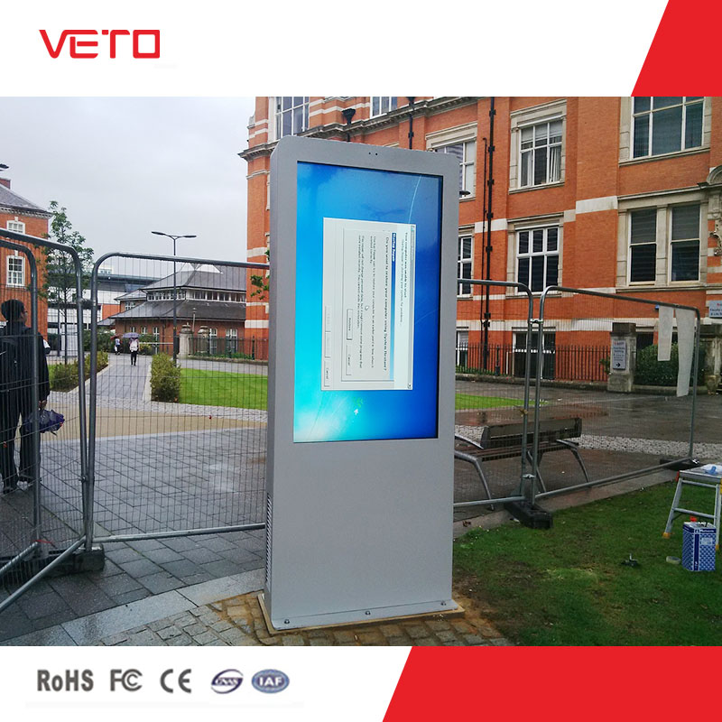 VETO full HD 60 inch floor stand touch screen outdoor LCD advertising display