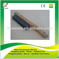 wood handle stainless wire brush for welding