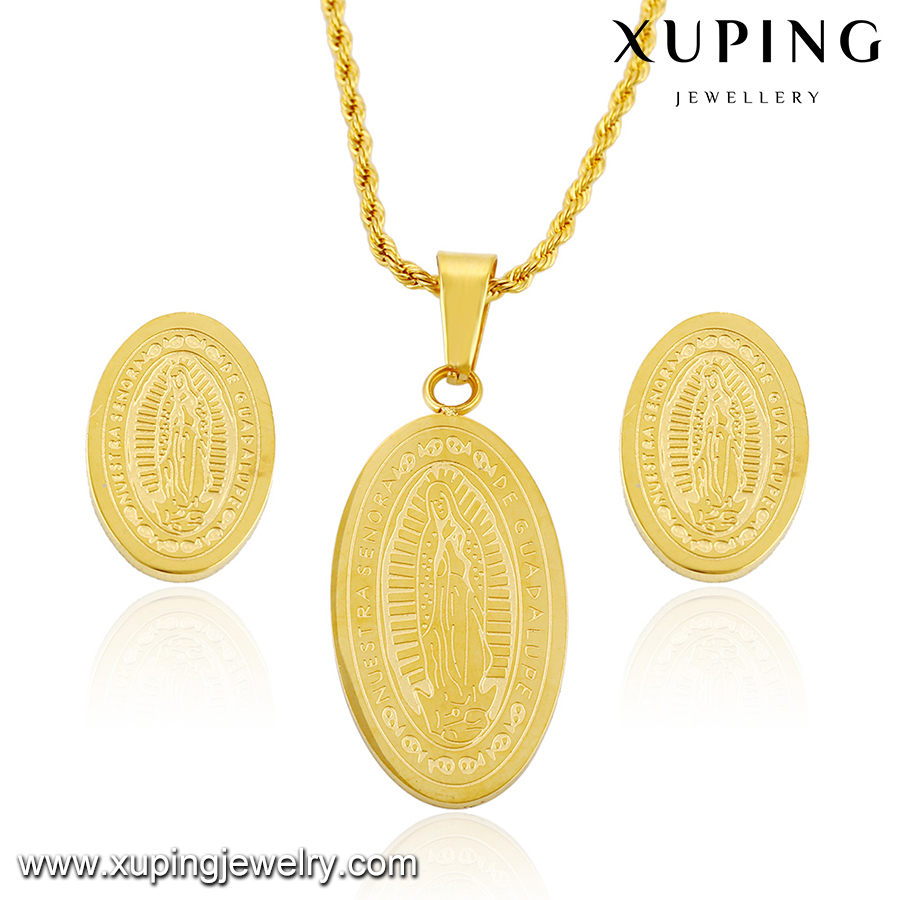 63789 xuping fashion gold plated religious jewelry <strong>set</strong>