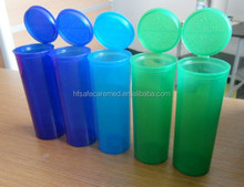 Medical Rx Vial pill Cannabis Plastic Bottles With Pop Up Lids