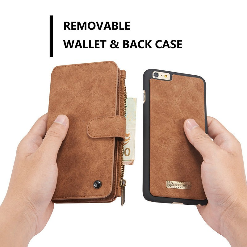 China supplier 3 in 1 protector leather wallet case for iphone 6 plus