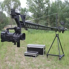 Factory Supply 8m 2-axis Motorized Dutch Head Digital Video Camera Jib Crane