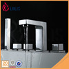 China supplier polished 5 holes brass square side mounted bathtub faucet