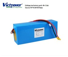 Lithium ion 48v 11ah battery pack for electric scooter