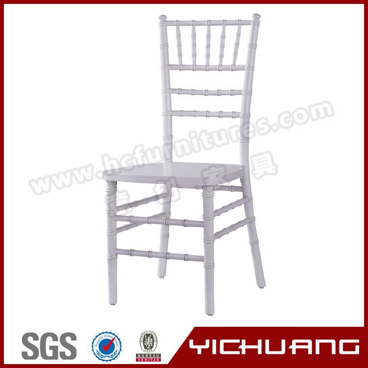 Knock down design white polypropylene chiavari used wedding chair with YC-A21