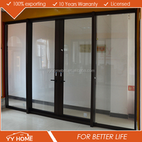 AS2047 exterior double glass aluminium wood door design window
