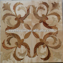 Wood art parquet mosaic parquet patterned flooring medal wood flooring