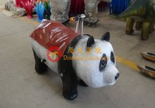 Amusement park lovely panda kiddie ride for sale coin operated