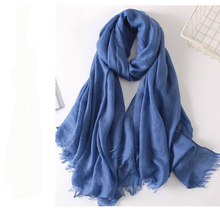 Fashion Custom Made Women Wool Cashmere Pashmina Linen Scarf Scarves