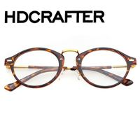 Fashion Acetate Big Round Frame Spectacle