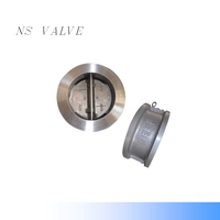 SS304 Wafer Type double -disc swing Check Valve