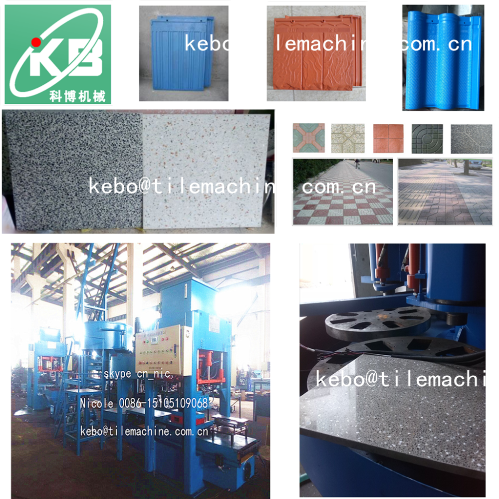 KB125E500 hydraulic interlocking tiles machine/machine to cement tile for paving