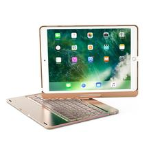 New Aluminum Metal Case For iPad Pro 10.5 Wireless Keyboard With breath Led Light