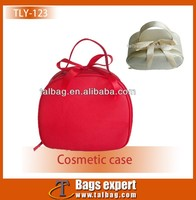 Cute red Pu leather cosmetic case for ladies