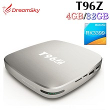 T96Z RK3399 Android 6.0 mini pc tv box 4gb ram/64gb rom dual band wifi 1000M LAN 4K H.265 Smart Media Player