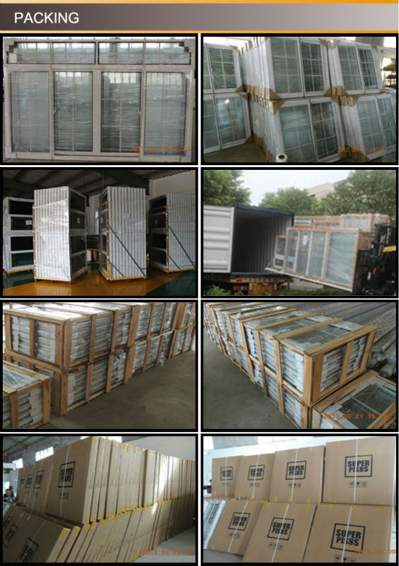double sash PVC window with Zebra blinds/plastic window with blinds