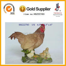 garden life size animal hen resin statues