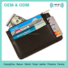 Slim RFID Blocking Leather Credit Card Wallet Provides Identity Theft Protection Ultra Slim Design Zipper Cash Card Holder