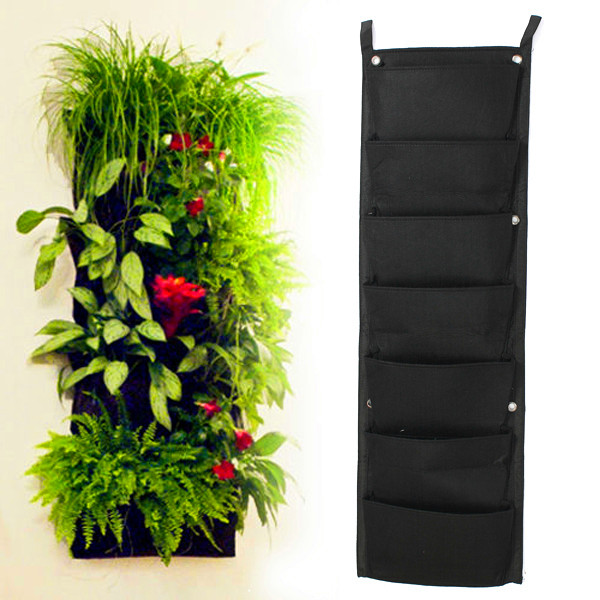 7 Pocket New Felt Outdoor Vertical Gardening Flower Pots