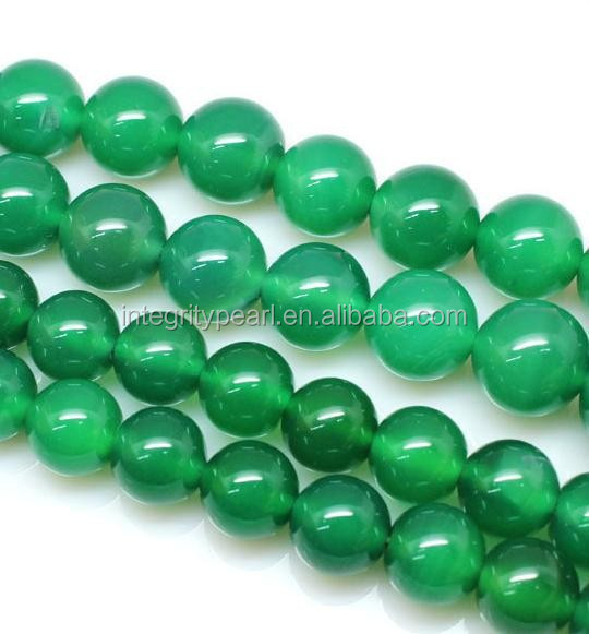 8mm green color agate round shape natural design gemstone bead