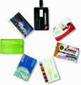 Hot selling promotional gift custom full color logo printed 2gb business card shape usb drive