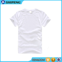 Promotional Top Quality bulk sale blank white 100 cotton t shirt for kids