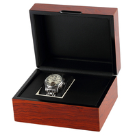 Retail Personalized Custom Wood Grain Wholesale Luxury Single Watch Box