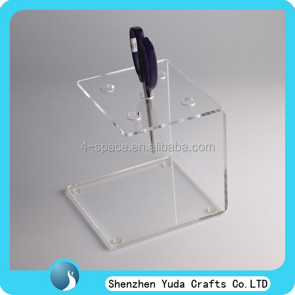 5mm free standing shop 5 shears acrylic hair scissor display acrylic pop retail scissor display stand