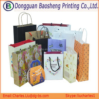 cheap promotion paper packaging hang bag for supermarket