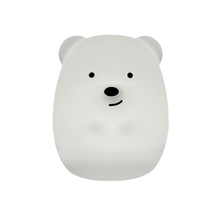 Portable Cute Bear Silicone Led Night Light,Touch Sensor Beside Led Table Lamp,Rechargeable Night Lamp