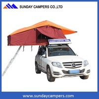 4WD offroad poly cotton canvas motorcycle camping trailers / popular canopy tent