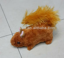 Battery Operated Electric Flashing Eyes Plush Squirrel