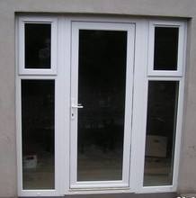 pvc swing casement door america style French door glass inserts upvc bedroom window and door manufacturer