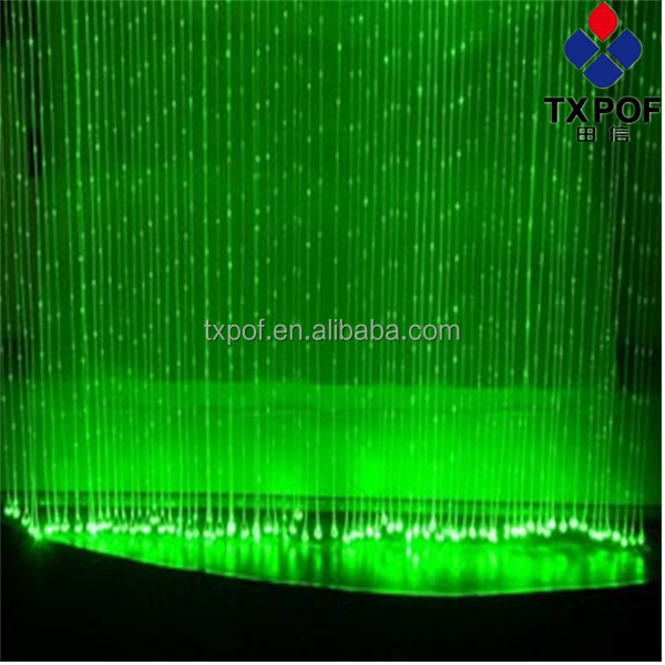 0.75mm Side Pointed Emitting Plastic Optical Fibers 2700m per roll Side light Type Sparkle Optical Fibers