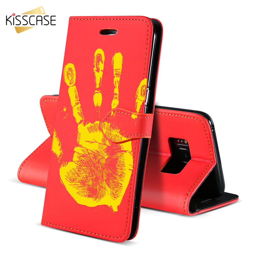 FLOVEME <strong>Case</strong> For iPhone 7 Plus For iPhone 6 6S Plus Cover Thermal Sensor Palm Print Phone Walle For Samsung Galaxy S8 Plus Shell