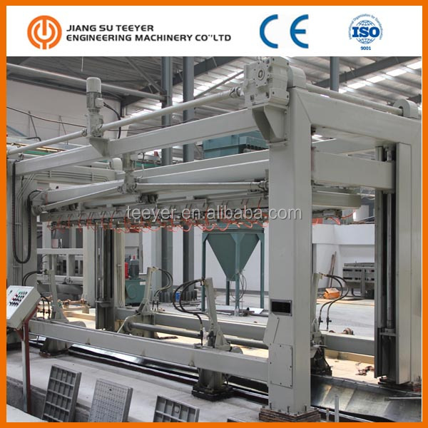 2018New Type High Quality 100,000M3 AAC Brick Cutting Machine, AAC Block Machine and Price of China