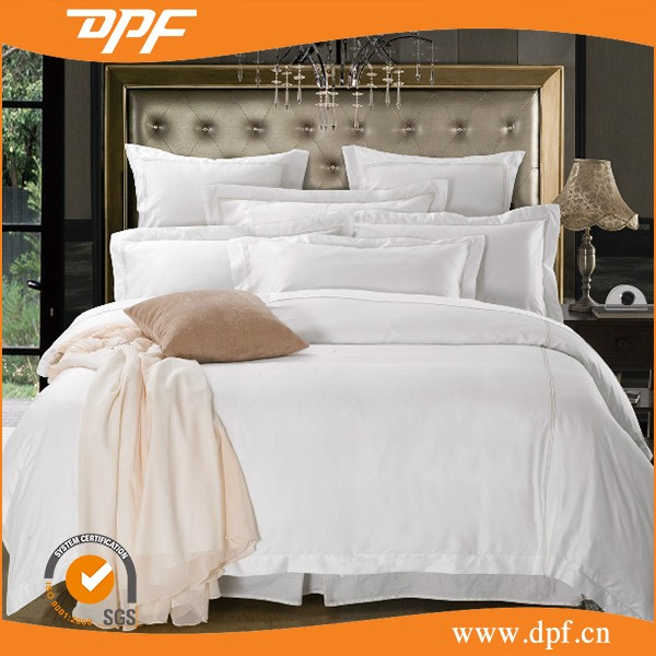100% cotton white hotel Bedding /White Luxury Hotel Bedding set / duvet cover sets/ supplier hotel linen