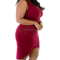 High quality women's clothes bandage sexy one-piece plus size red dresses