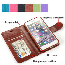 wholesale leather mobile case for iphone 6s, for iphone 6 folio case